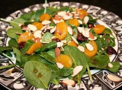 Andi's Vegetarian Jamaican Jerk Spicy Salad with Cranberries, Almonds, and Mandarin Oranges