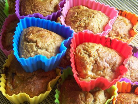 Kev's Peach and Coconut Bran Muffins