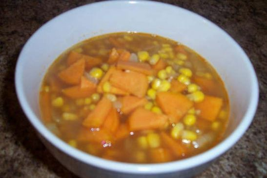 LaRaine's Cookin' for 2 Sweet Potatoe Soup