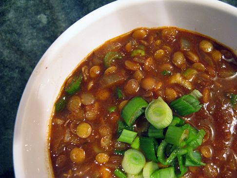 Meatless Lentil Chili
