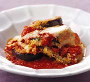 Eggplant Bake with Peppers and Mushrooms