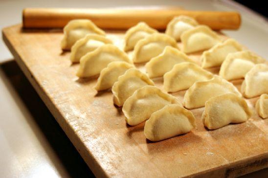 Asian Dumplings (potstickers) with Rice