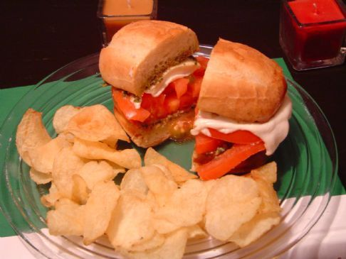 Tomato and Mozzarella Cheese Sandwich
