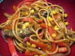 Southwestern Beef and Linguini