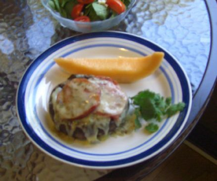 Stuffed Broiled Portabella Mushrooms