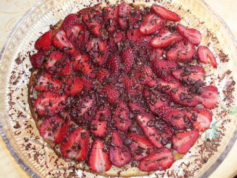 Light strawberry dessert.