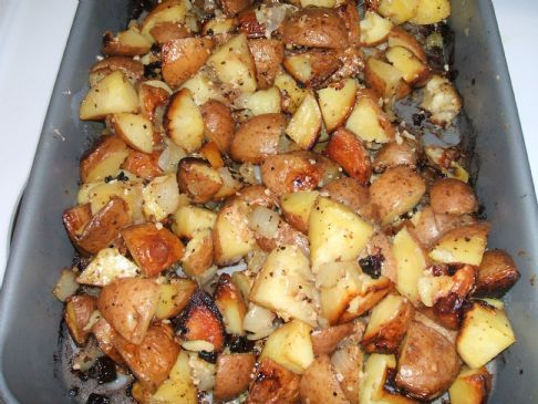 Roasted Garlic & Onion Potatoes