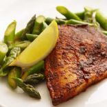 Chili-Rubbed Tilapia with Asparagus and Lemon