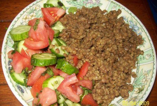 Lentils and Bulgur / Moujadara