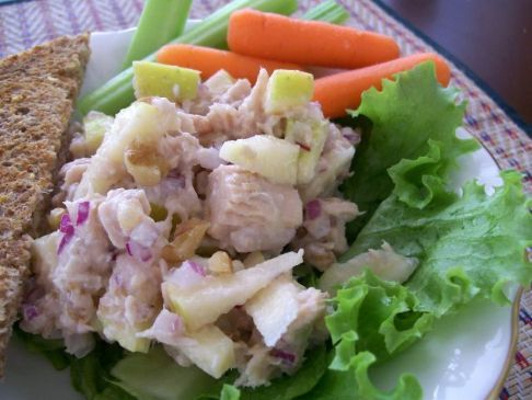 Tuna Waldorf Salad with Pear