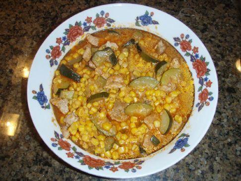 Calabasita con Carne (Zucchini with Meat)