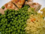 Healthy Chicken rice and Pea's