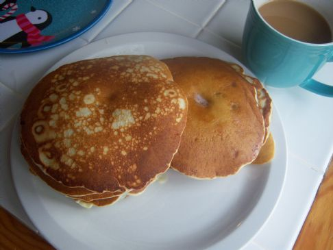 perfect fluffy cheaters blueberry pancakes