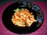 Spicy whole wheat veggie pasta