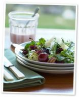 Arugula-cherry salad w/ blue cheese