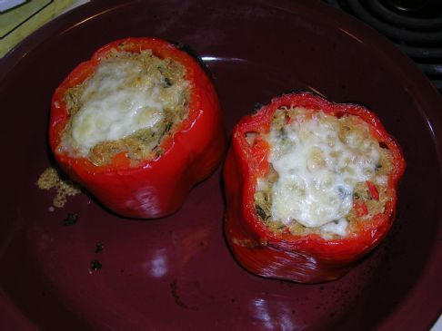 Quinoa Stuffed Red Peppers