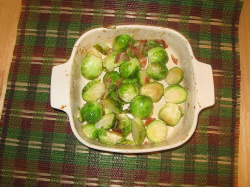 Country Style Roasted Brussel Sprouts ~ by 2Persevere