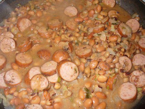 Goldsmiths Turkey Sausage and Pinto - Blake Eye Peas