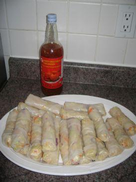 Spicy Chicken Rice Paper Rolls