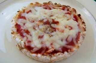 rice cake pizza (individual)