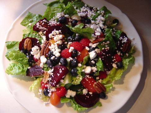 Garden Salad with Beets & Blueberries