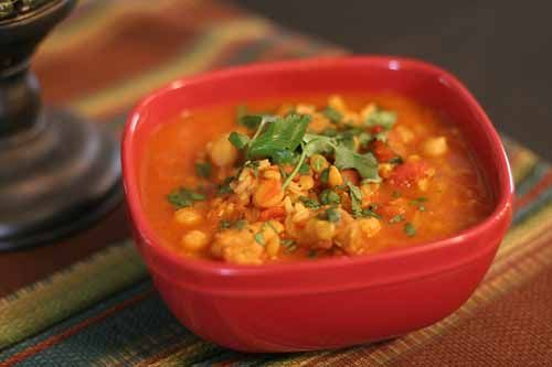 Moroccan Chickpea Stew with Chicken & Lentils