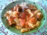 Eggplant, Tofu and Pasta bake