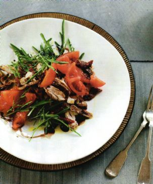 Cinnamon Chicken with Tomato & Fig Salad