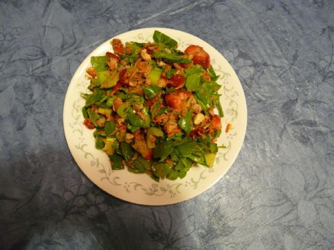 Spinach, Nut, Fruit Salad