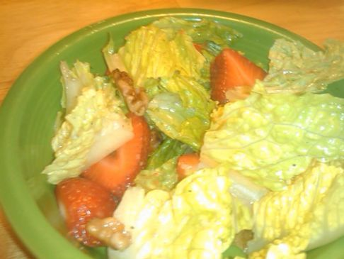 Romaine Salad with Berries and Maple Nuts