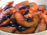 Peaches with Balsamic Cherries