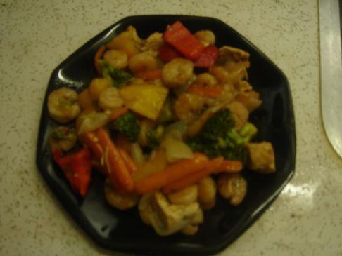 Szechwan Shrimp Stir Fry