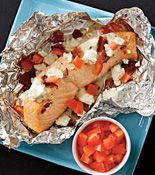 Grilled Salmon, Bacon & Feta Packets Recipe - Every Day with Rachael Ray