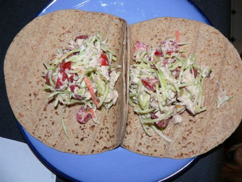 Crunchy Tuna Broccoli Salad Wrap