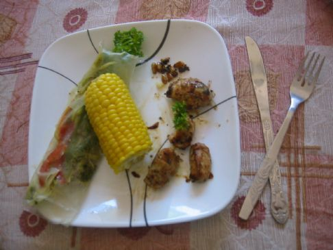 Vegetable spring roll by Alice