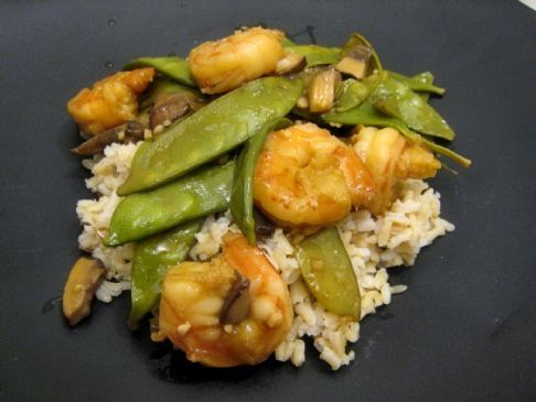 Citrus-y Stir-fry Shrimp