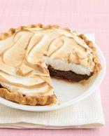 Meringue Chocolate Pudding Pie with Coconut Pie Crust