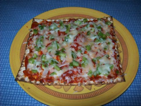 Matzo Pizza - Vegetarian