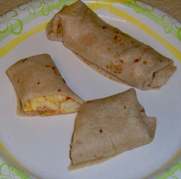 Spicy egg burrito