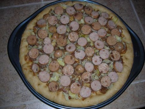 German Beer Pizza