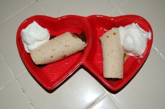 Peanut Butter Cup Crispy Tortilla Dessert