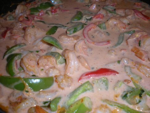 Red Curry Cilantro Shrimp
