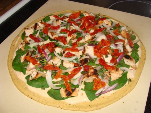 Unchained Recipe Contest Kara's Mediterranean Pizza