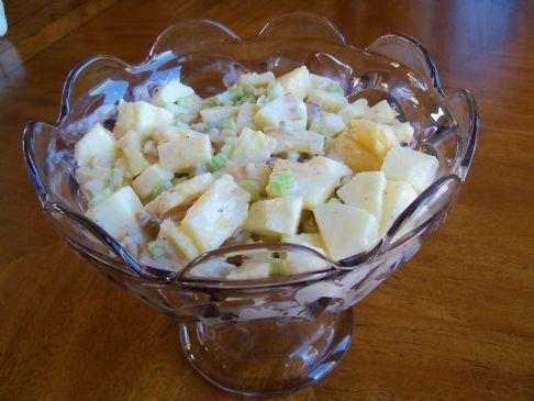Apple Pineapple Waldorf Salad