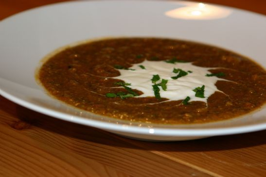 Spinach Mint Lentil Soup