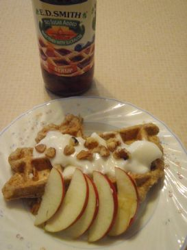 Whole Wheat Apple  Waffles made with Stevia