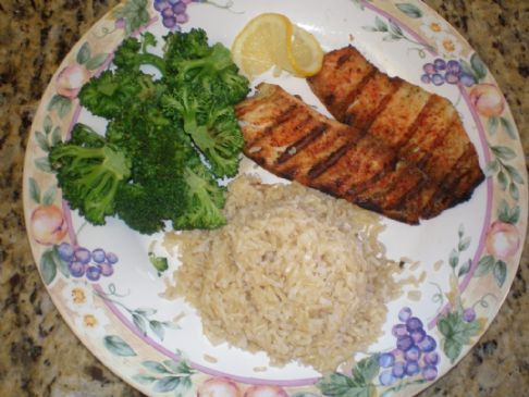 Herbed Tilapia w/Brown Rice and Broccoli