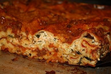 Family Favorite low fat Lasagna with spinach