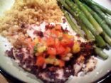 Blue Corn Chip Crusted Tilapia with Mango Salsa