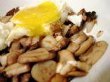 Roasted Garlic & Feta Mushrooms with Runny Egg